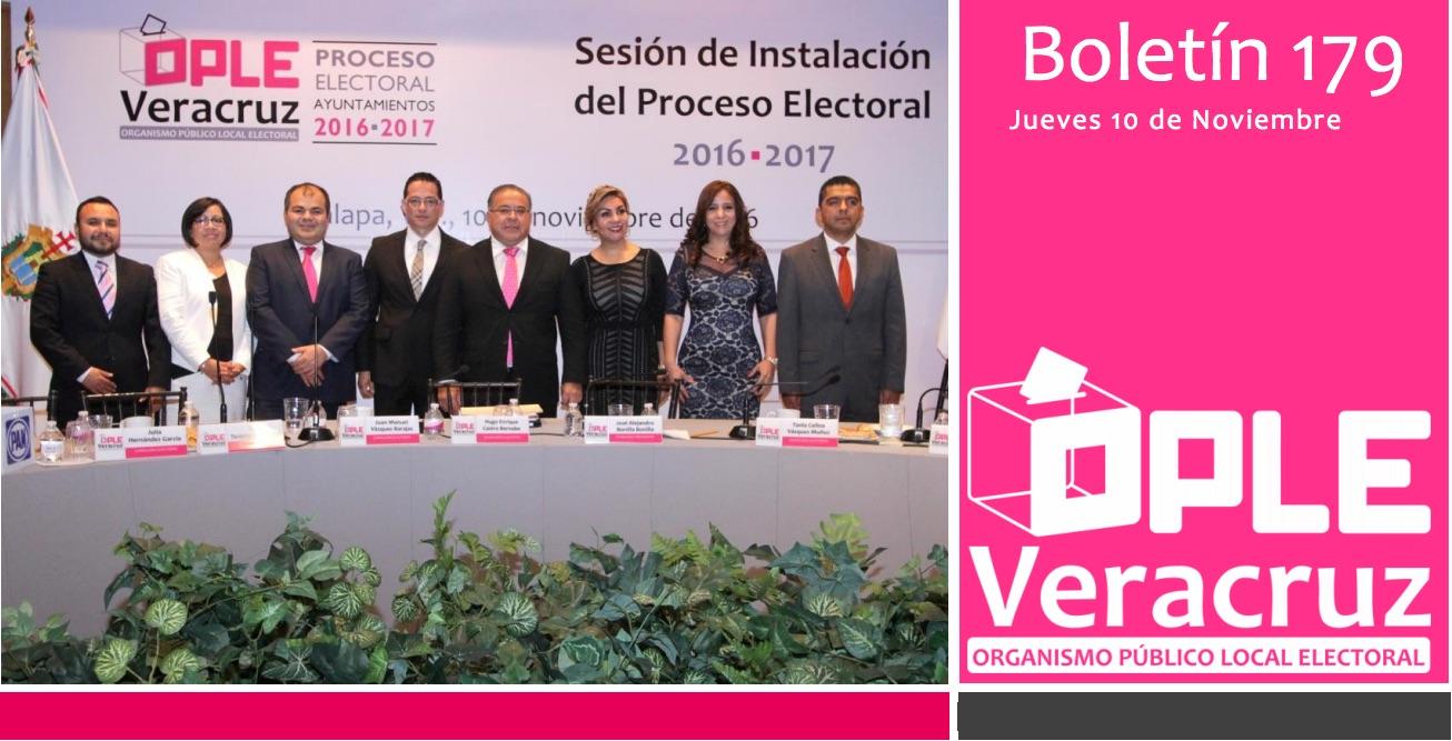 OPLE Inicia Proceso Electoral 2016–2017 en el Estado de Veracruz